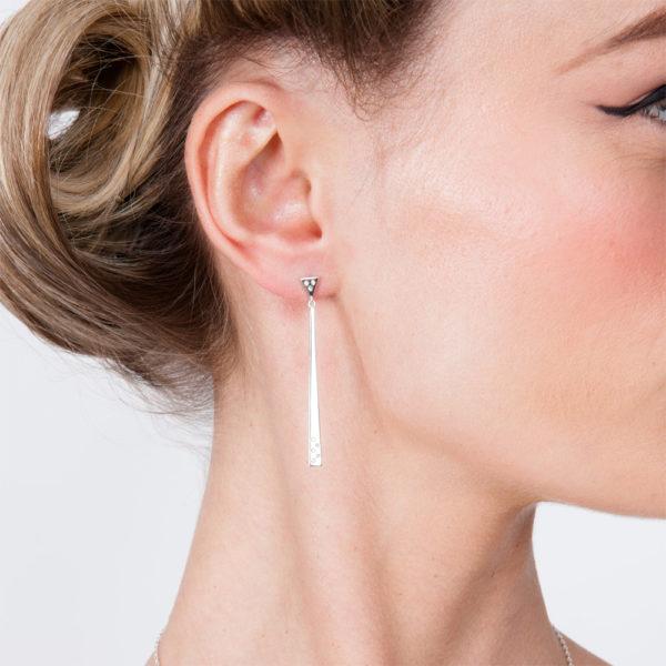 Art Deco 1 linea Drop Earrings