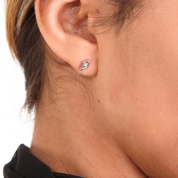 Interchangeable Art Deco Earrings with white Topaz