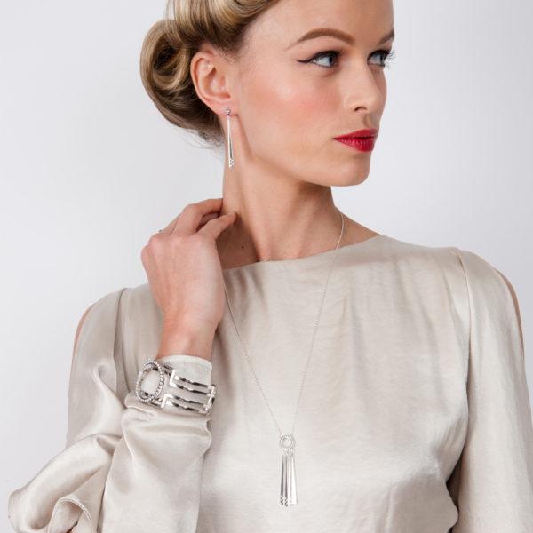 Art Deco 4 Strand Necklace