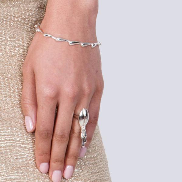 Rose Gold Continual Drop Bracelet