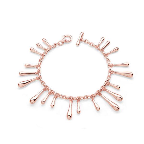 Rose Gold Multi Drop Bracelet