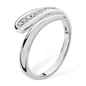 Open Diamond Drop Ring