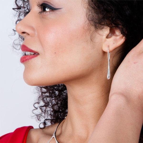 Rose Gold Solid Drop Earrings