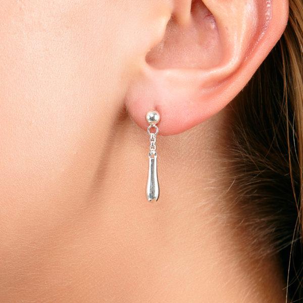 Rose Gold Short Drop Earrings
