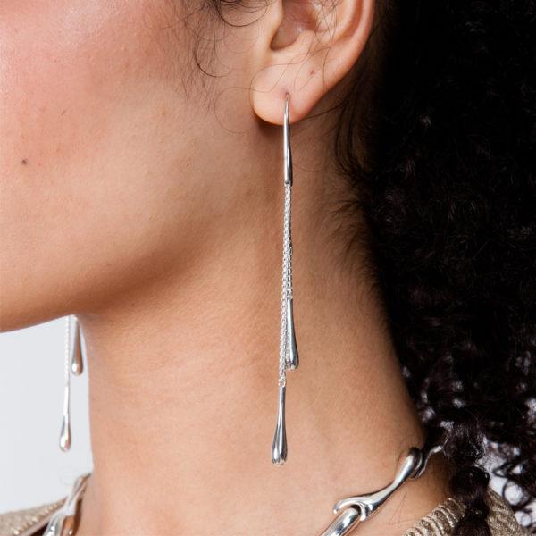 Rose Gold Double Drop Earrings