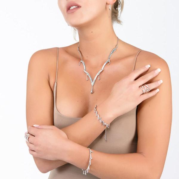 Cascade Drop Necklace
