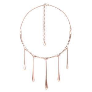 Rose Gold 5 Drop Necklace