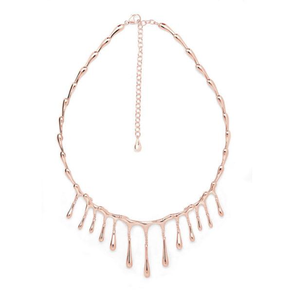 Rose Gold Short Multi-Drop Necklace