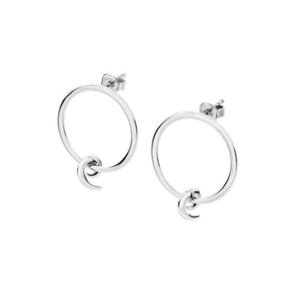 Element Circle Swirl Earrings
