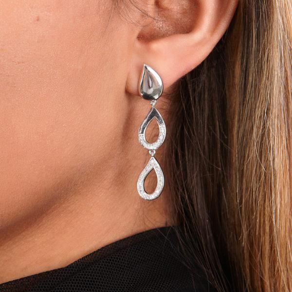 Melting Diamond Drop Earrings