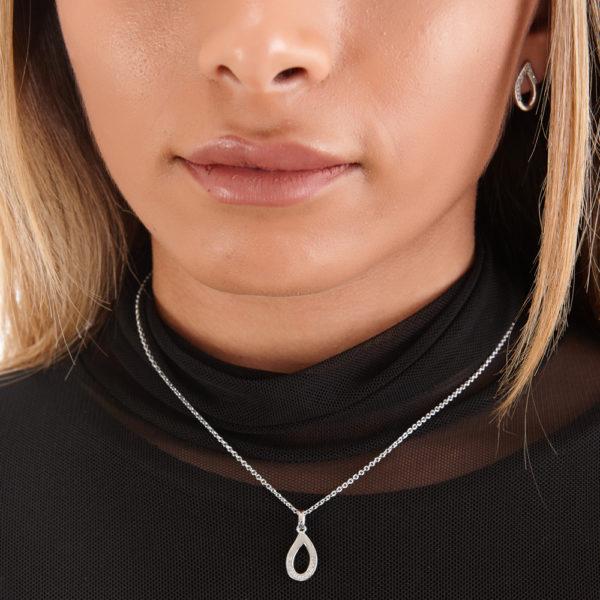 Melting Diamond Pendant