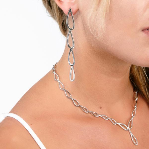 Long Petal Drop Earrings
