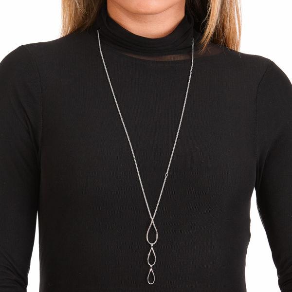 Tri Petal Long Pendant
