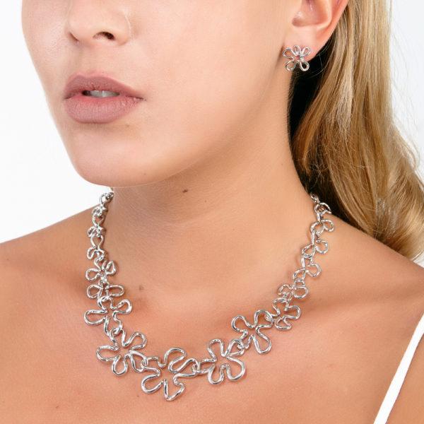 Large Open Splash Necklace