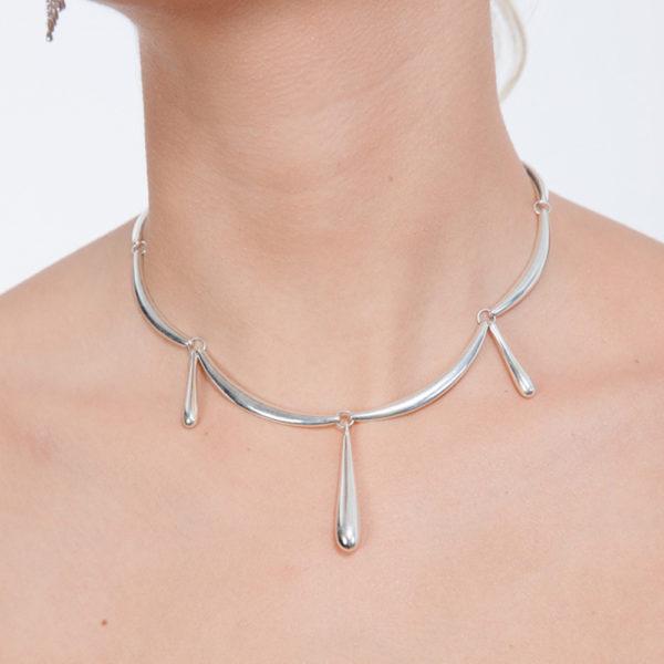 """Waterfall Choker Necklace 14/18"""""""