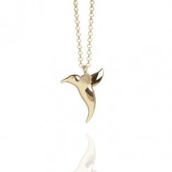 Talisman Hummingbird  Gold Plated Necklace