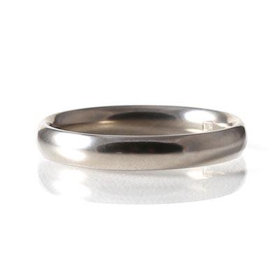 Titanium 4mm Court Profile Ring