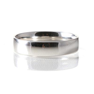 Platinum 5mm Light Court Profile Wedding Ring