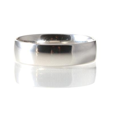 Platinum 6mm Light Court Profile Wedding Ring