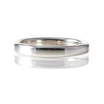 Platinum 3mm Heavy Court Ring