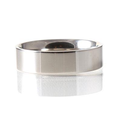 Palladium 6mm Reverse D-Shape Wedding Ring