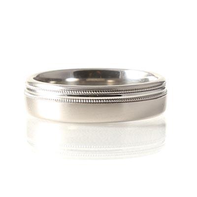 Palladium 6mm Court Textured Wedding Ring