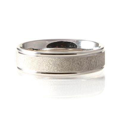 Palladium 6mm Light Court Wedding Textured Ring