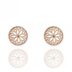 Silver Rose Gold Plated Purity Mandala Earrings