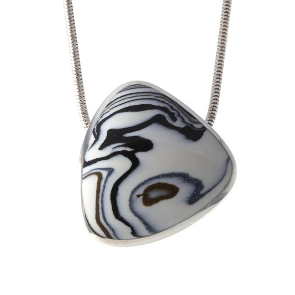 Silver Safari Porcelain Necklace