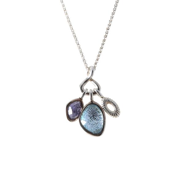 Silver Stone Pendant on a Silver Chain