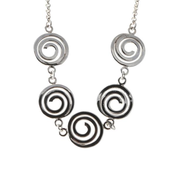 Silver Circle Necklet