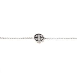 Silver Blessing Abalone Bracelet