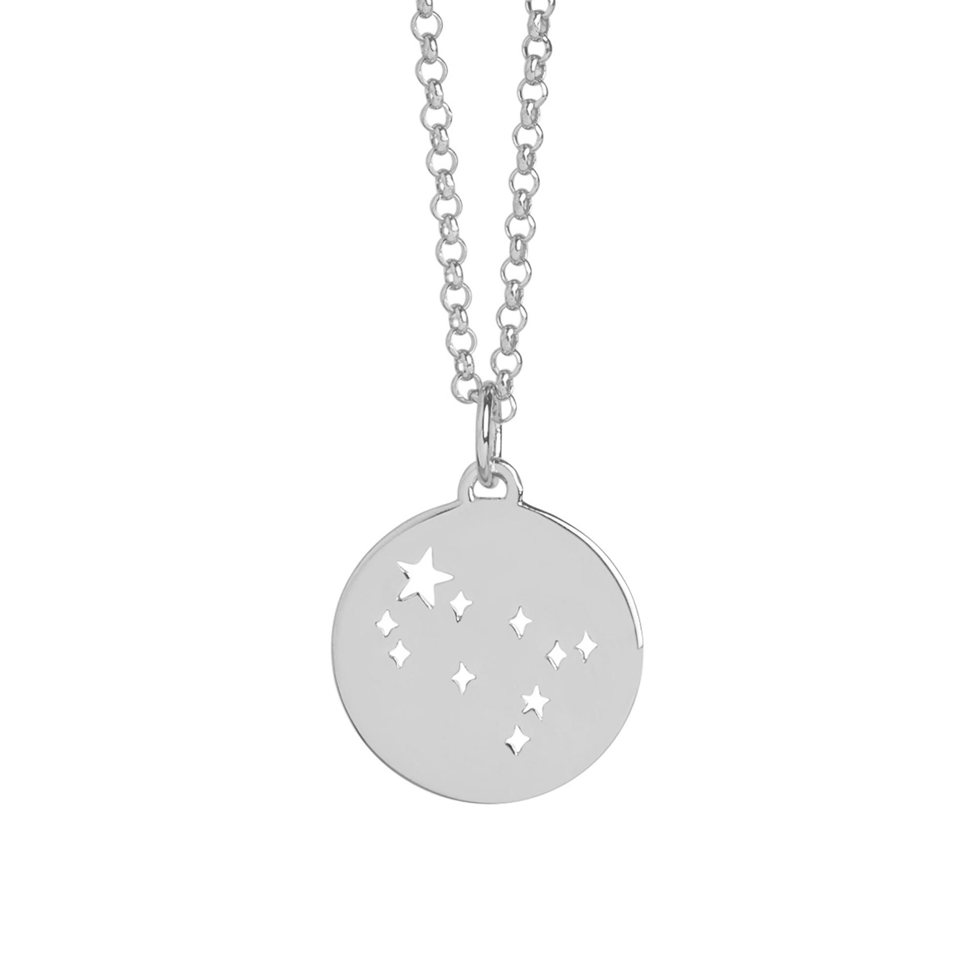 Muru Gemini Star Sign Silver Necklace