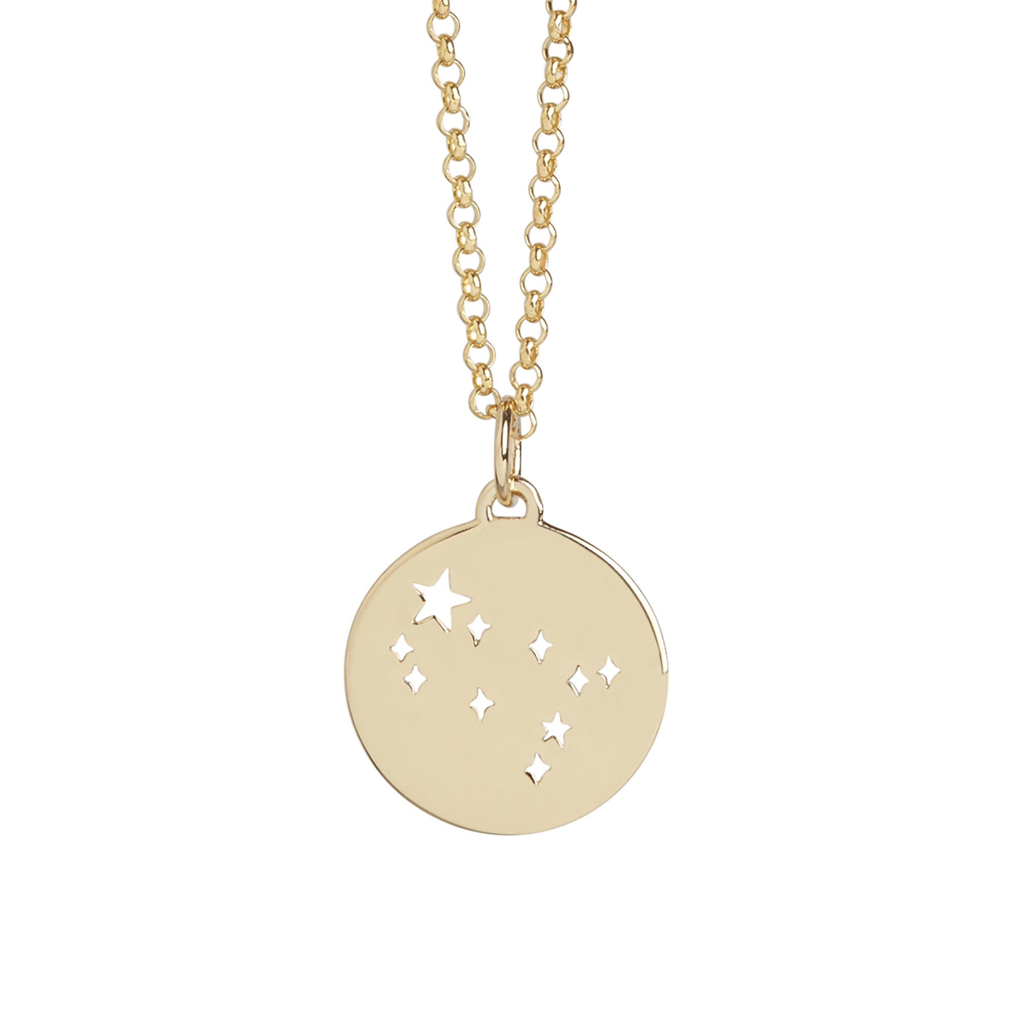 Muru Gemini Gold Plated Star Sign Necklace