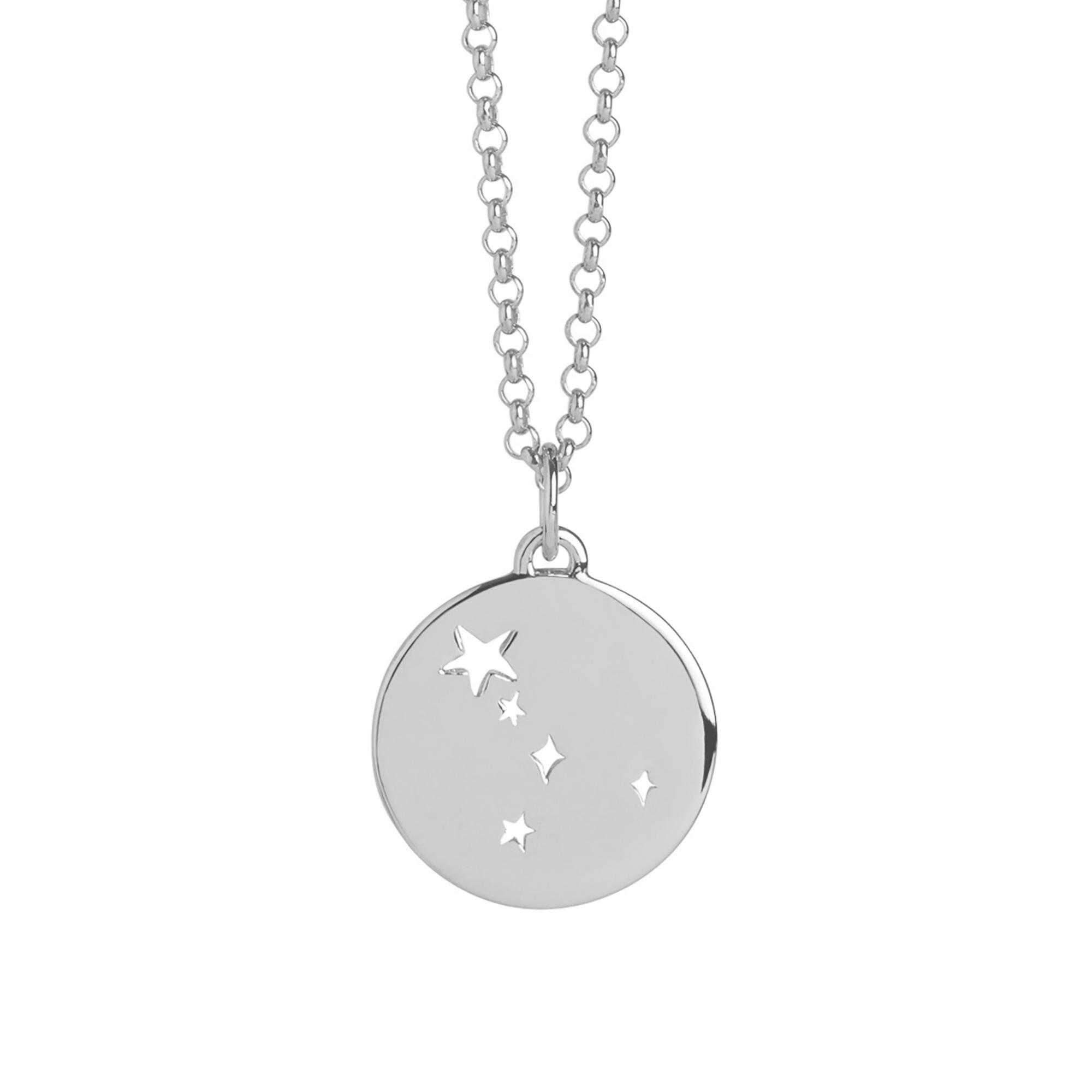 Muru Cancer Star Sign Necklace Silver