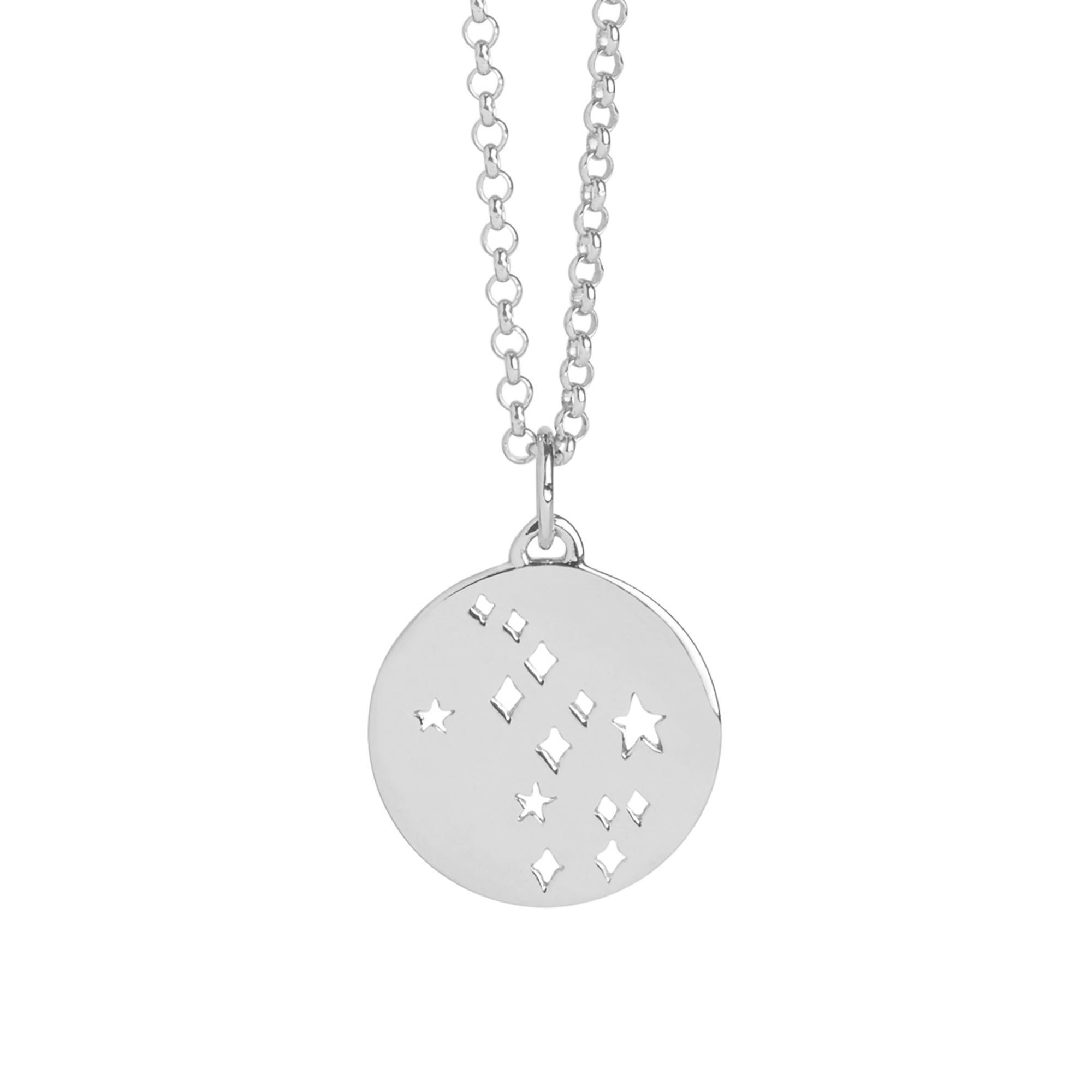 Muru Virgo Star Sign Necklace Silver