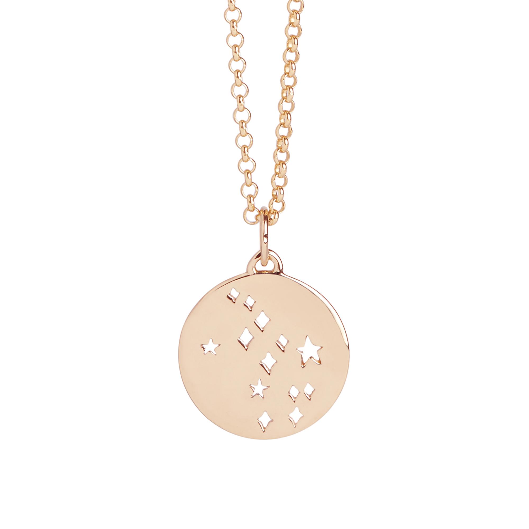 Muru Virgo Star Sign Necklace Rose Gold Plated