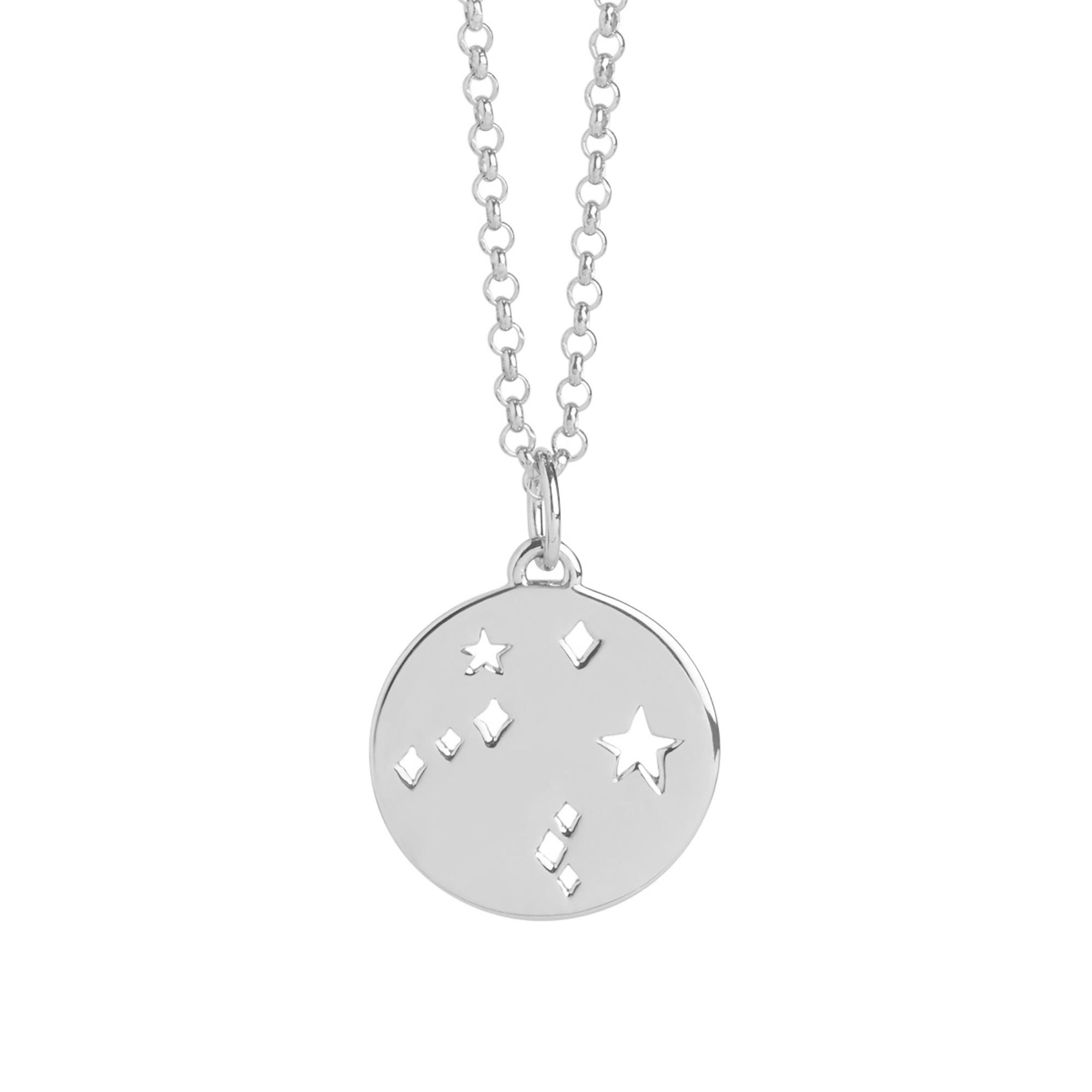 Muru Libra Star Sign Necklace Silver