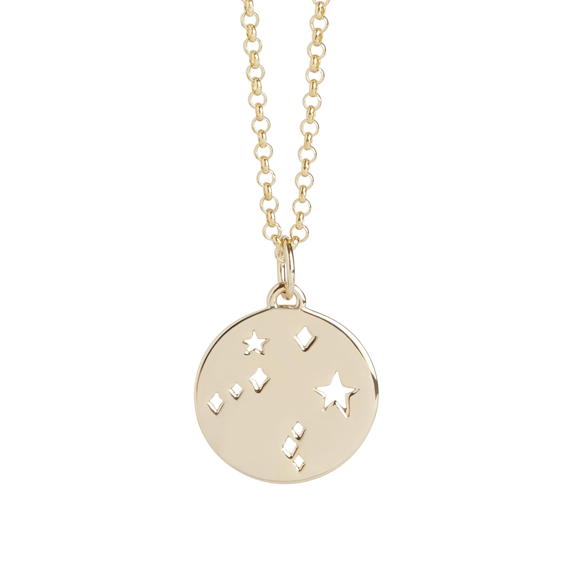 Muru Libra Star Sign Necklace Gold Plated