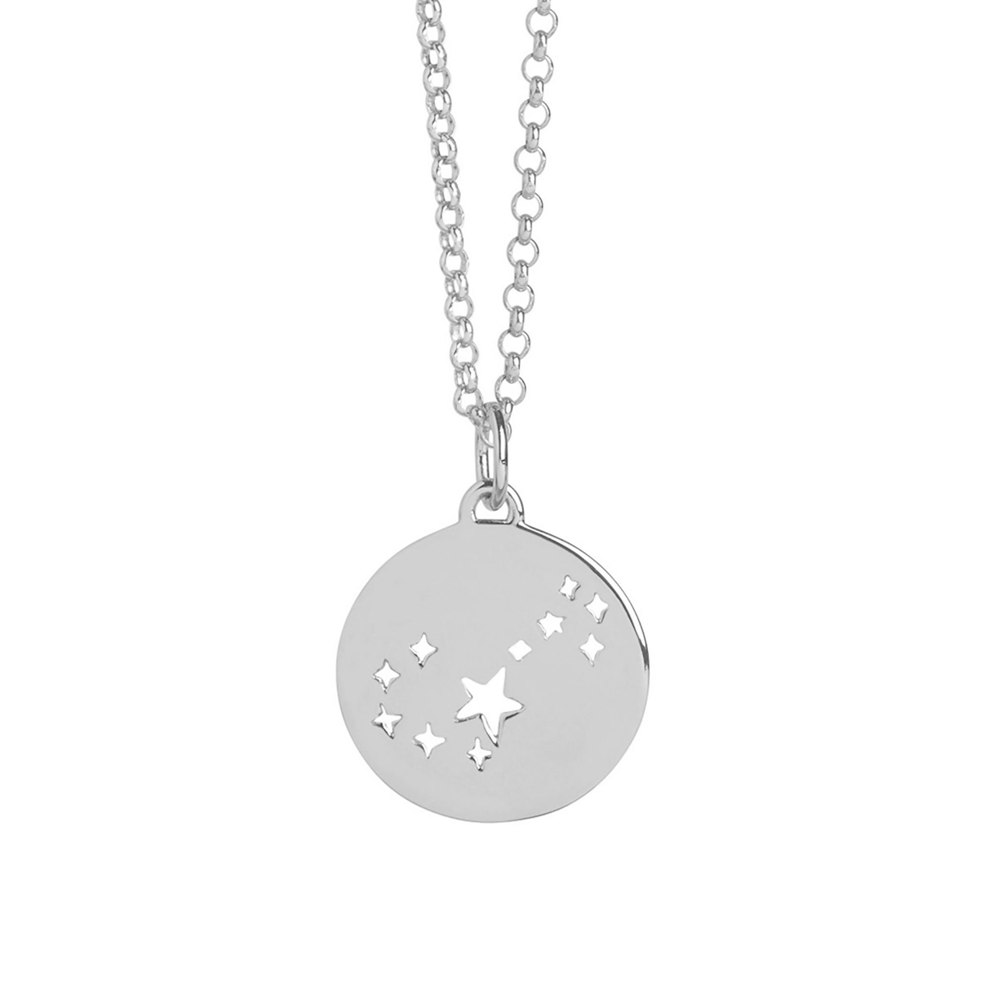 Muru Scorpio Star Sign Necklace Silver