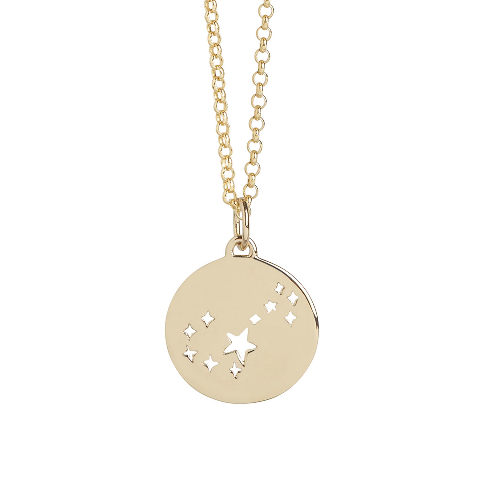 Muru Scorpio Star Sign Necklace Gold Plated