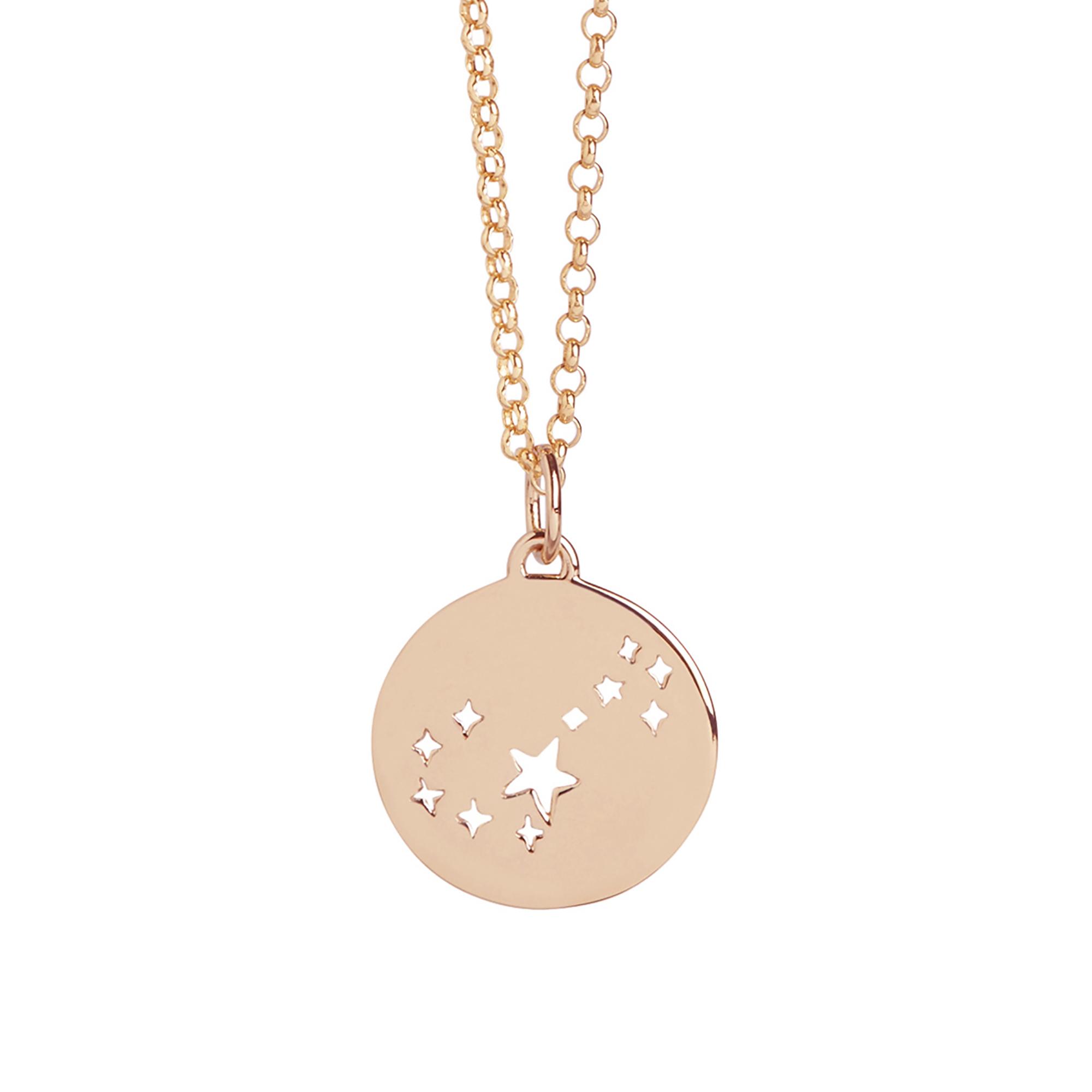 Muru Scorpio Star Sign Necklace Rose Gold Plated