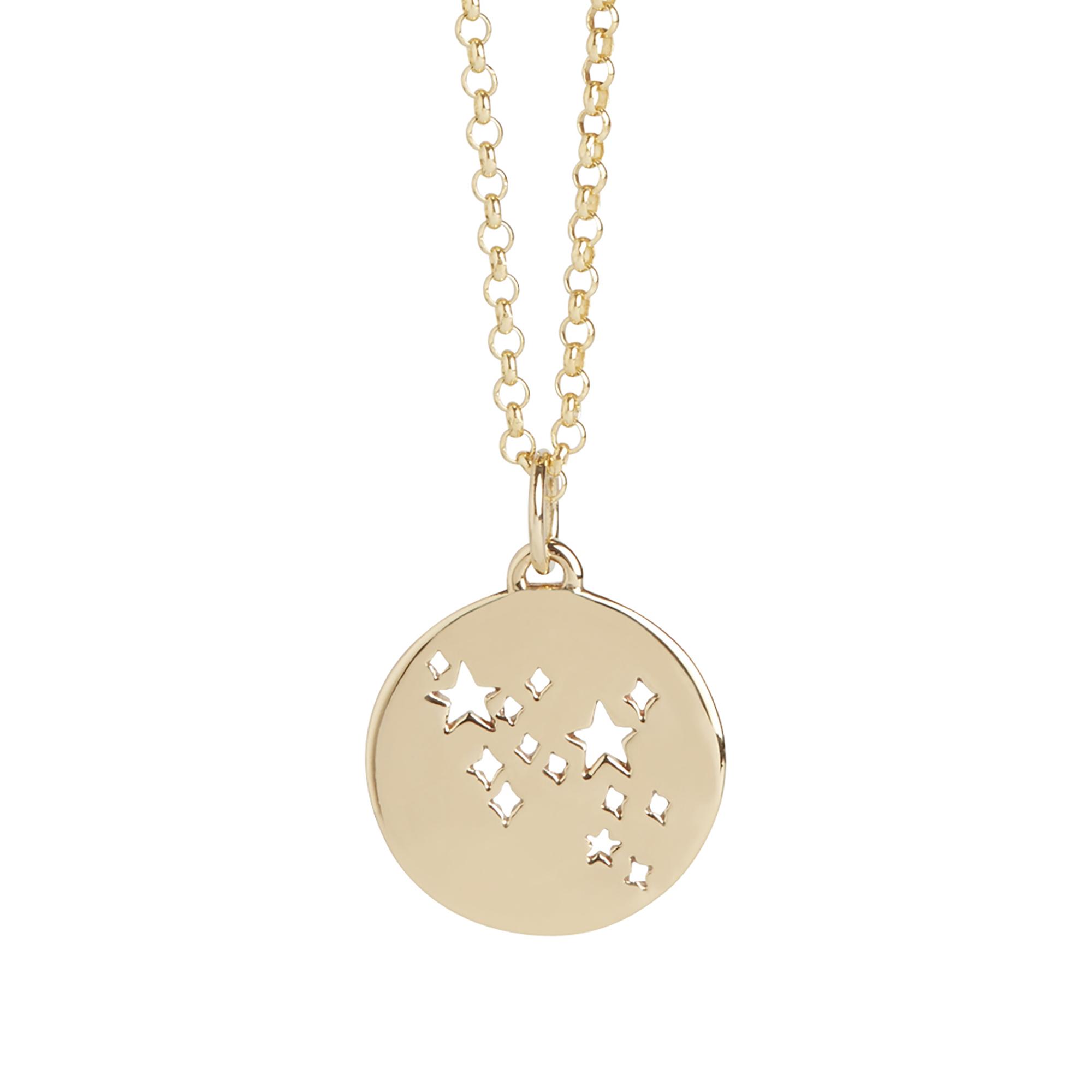 Muru Sagittarius Star Sign Necklace Gold Plated