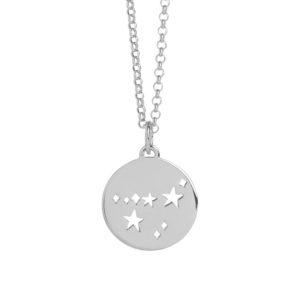 Muru Capricorn Star Sign Necklace Silver