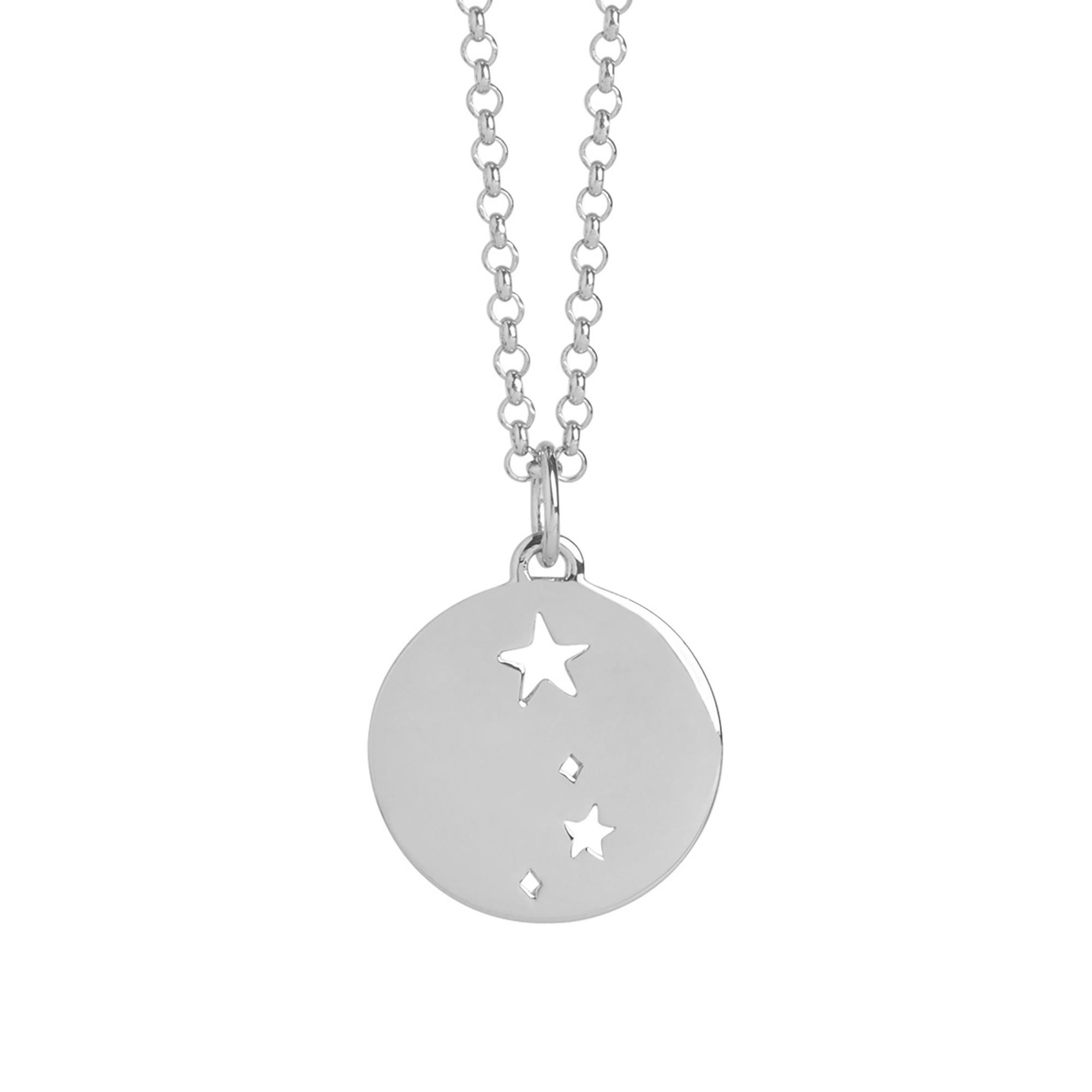 Muru Aries Star Sign Necklace Silver