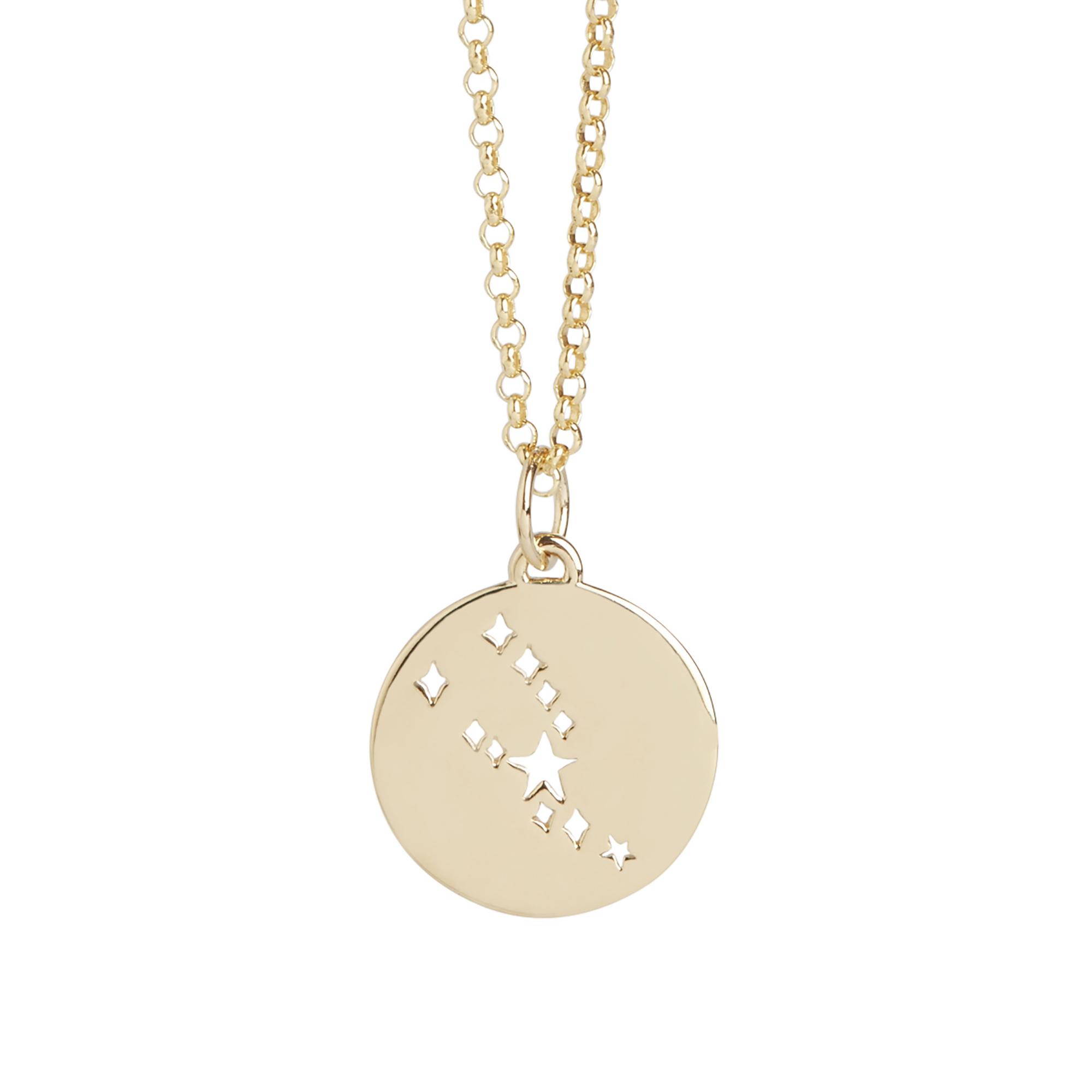 Muru Taurus Star Sign Necklace Gold Plated