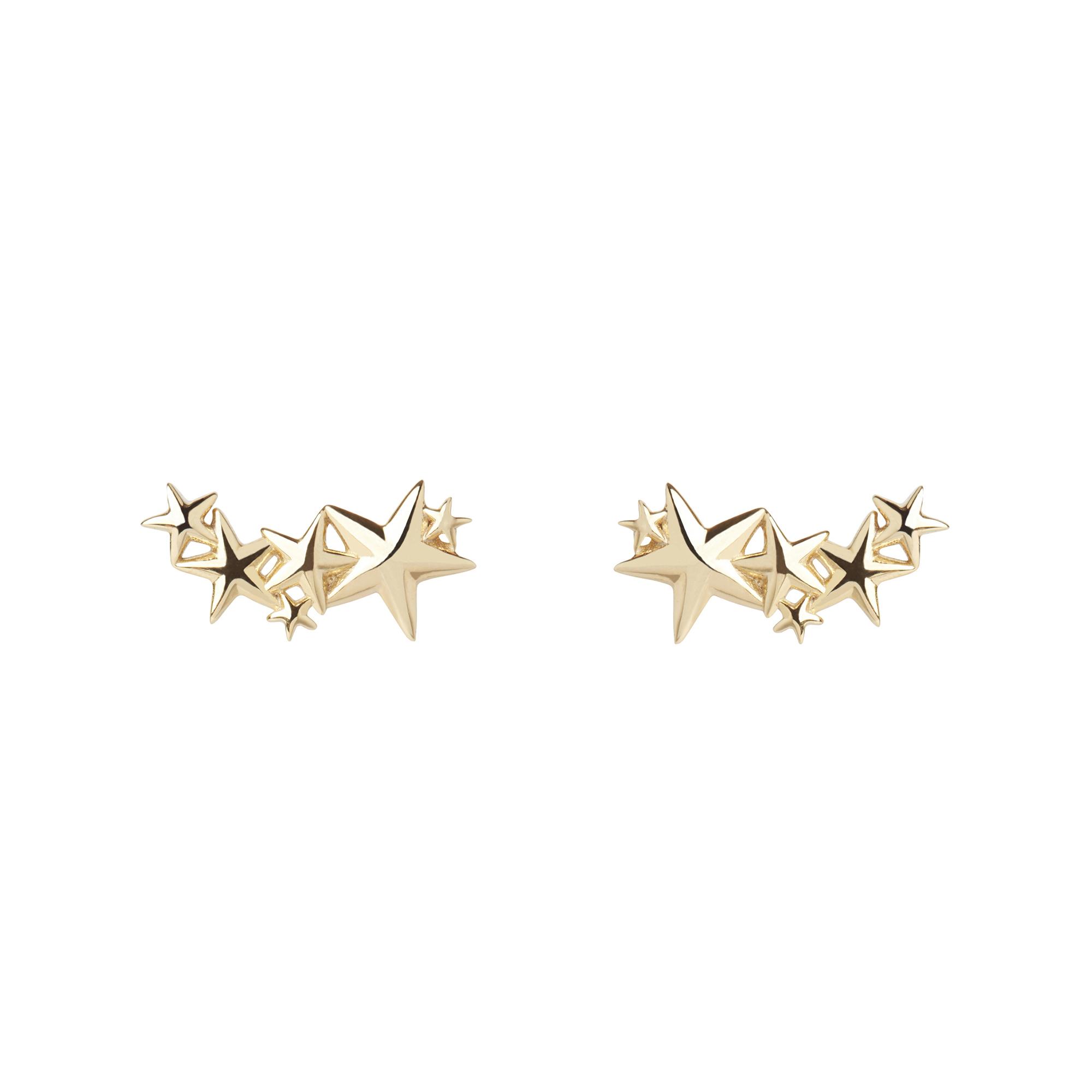Muru Star Stud Earrings Gold Plated