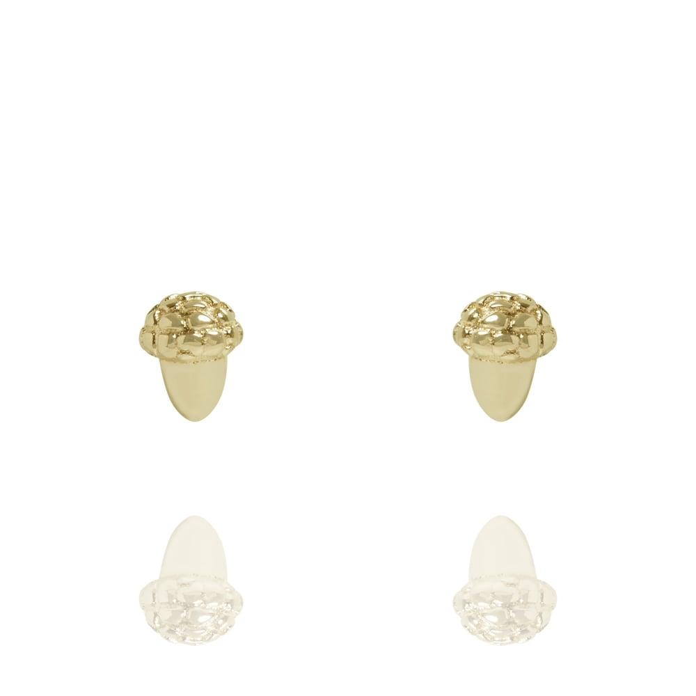 Muru Acorn Stud Earrings Gold Plated
