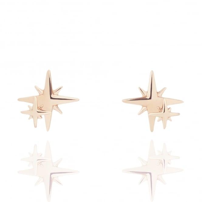 Muru My Little Star Stud Earrings Rose Gold Plated