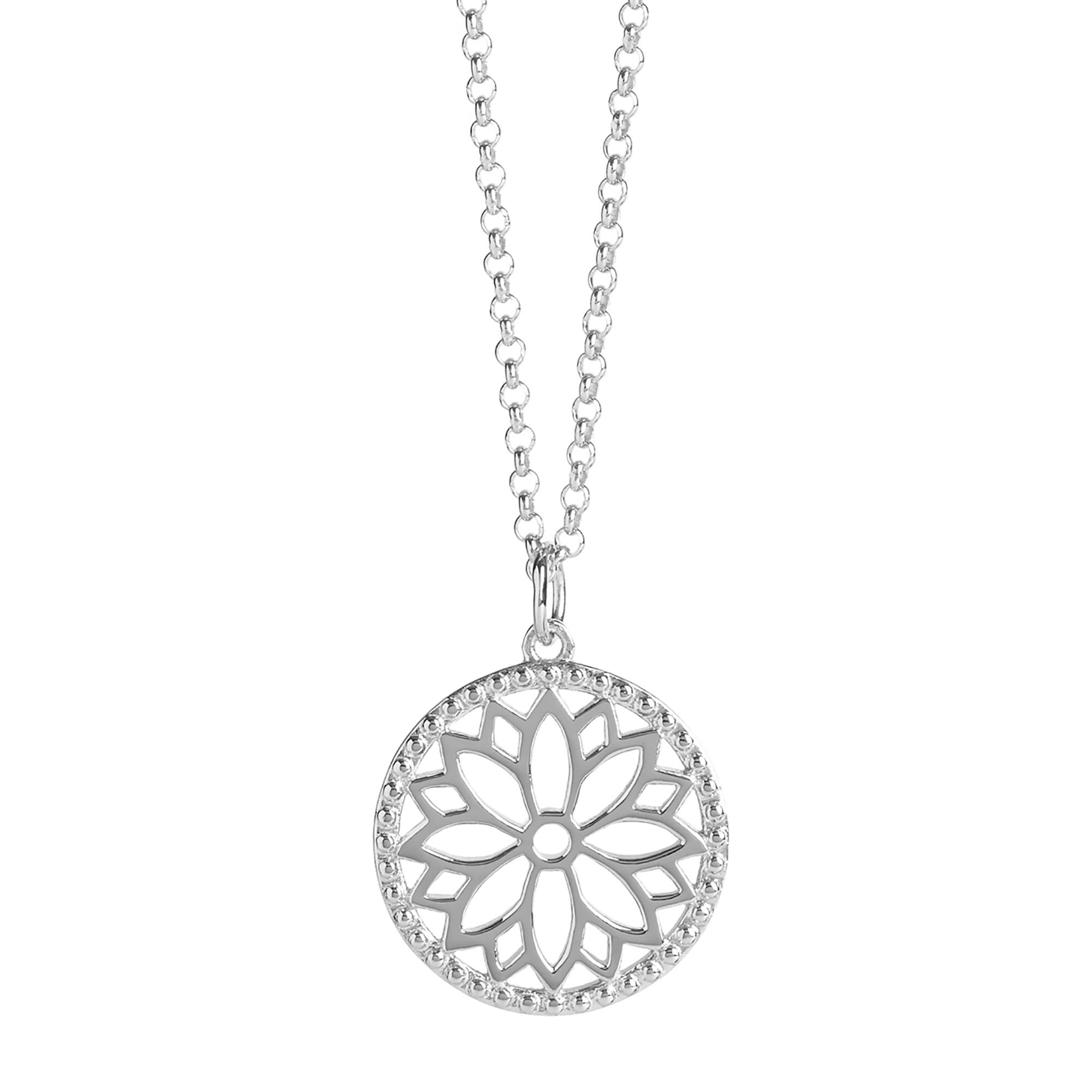 Muru Purity Mandala Charm Necklace Silver